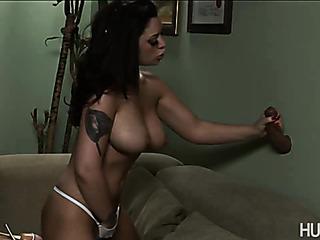 tattooed babe strips naked