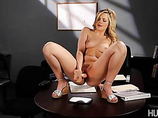 kinky blonde fucks her