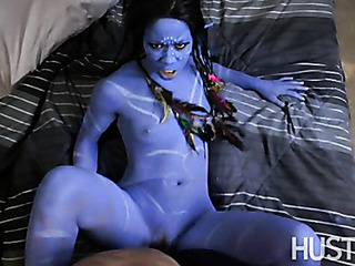 hot alien chick gets