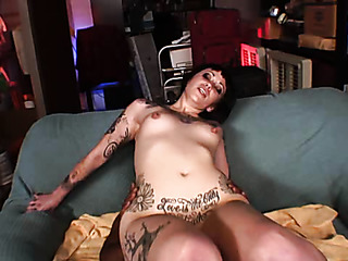 tattooed slut enjoys her