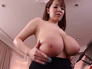 asian, big tits, black, skirt