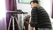 busty slut caught peeping