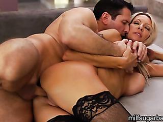hot blonde wife fucks