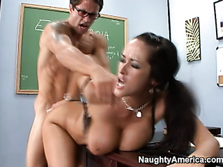 nerdy brunette professor with