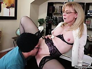 kinky blonde mature takes