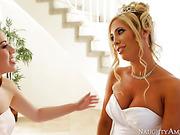 blonde, hardcore, pantyhose, wedding