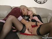 blonde, milf, mom, uniform