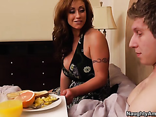 busty mom lets cock