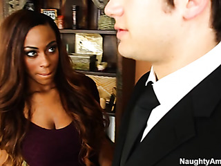 ebony beauty fucks her