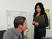 beauty, brunette, office girls