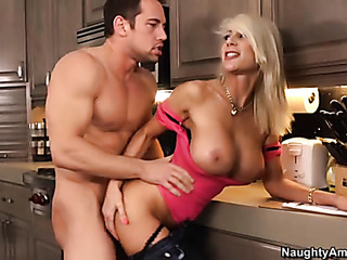 busty blonde pink fucked