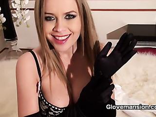 busty blonde enjoys milking