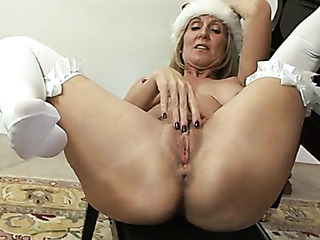 blonde santa suit plays