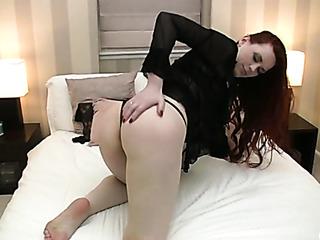 curvy redhead mom bed