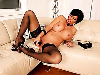 busty brunette stockings stuffs