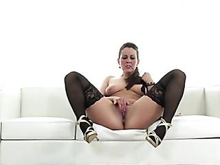 babe stockings rubs clit