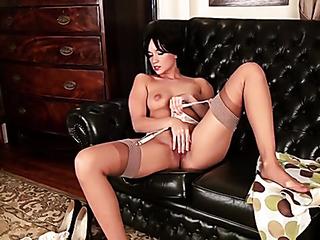 beautiful british babe stockings