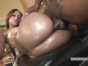 amateur, ass, ebony, oiled