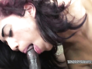 short haired latina with