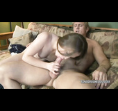 Horny fucker bones the tight pussy of a hot ginger and cums on her face