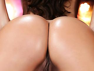 slim brunette vixen with