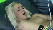 tattooed small-titted blonde squirter