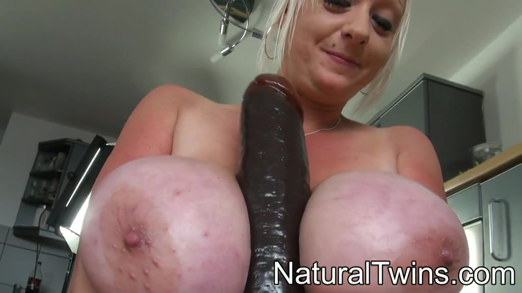 Black slut with dildo
