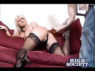fascinating blonde wearing black
