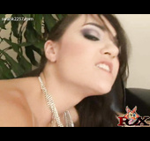 Small boobed young raven with silver necklace gets her ass ploughed