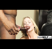 Blue panties skinny blonde MILF gets fucked by a BBC