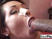 brunette, interracial