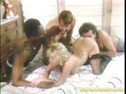 alluring blonde black stockings