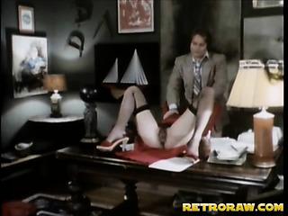 cute brunette secretary facialized