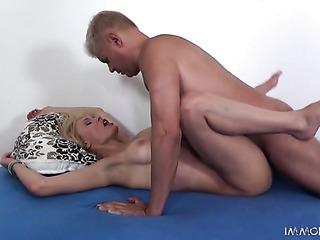 blonde slut with huge