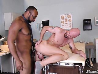 horny black doctos eats