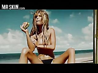 curvy blonde eats burger