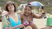 brunette babe blue bikini
