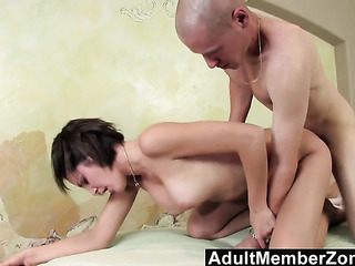 brunette masseur with short