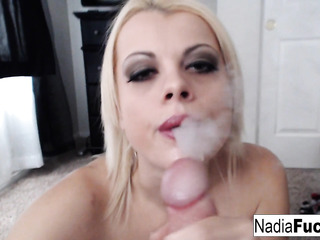 pov blowjob dick-swallowing blondie