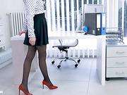 fantasies, pantyhose, secretary, solo