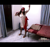 Masked and luxurious MILF Indian showing off her dancing skills