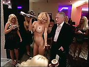 blonde, celebrity, old man, publick