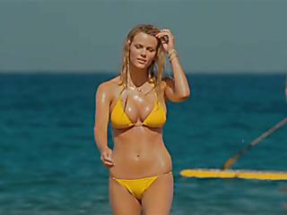 wonderful babe yellow bikini