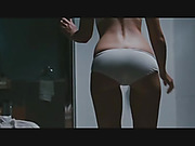 brunette, celebrity, stripping, white