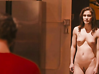 naked lady walks toward