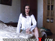 amateur, apartment house, brunette, casting, rough sex
