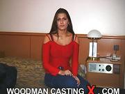 amateur, androgyn, brunette, casting, rough sex
