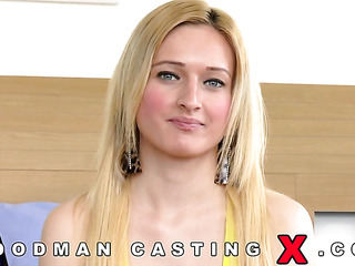 blonde hungarian casting anal