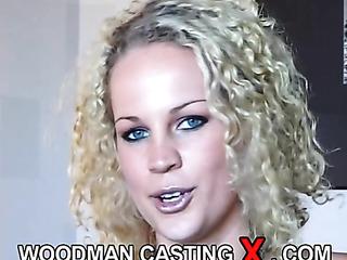 curly blonde fuck sofa