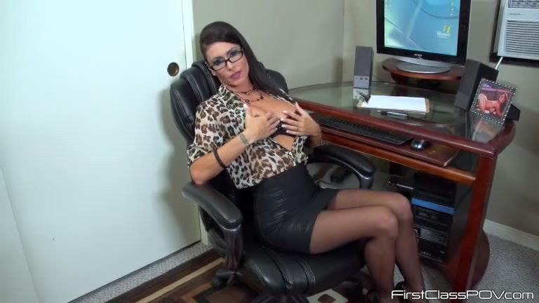 Ebony Glasses Pov Blowjob